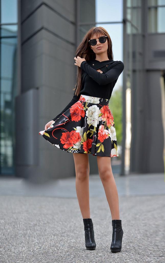 Черна дамска блуза DPmoda