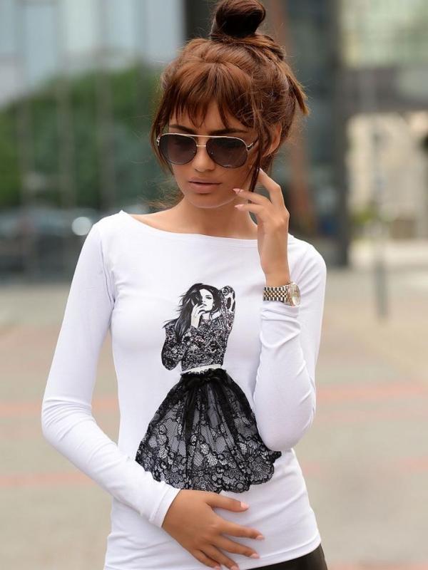 Дамска блуза с дълъг ръкав DPmoda