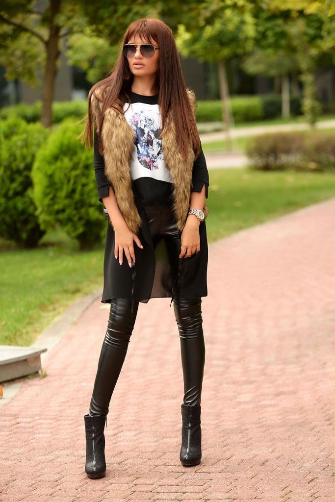 Дамски елек с косъм DPmoda