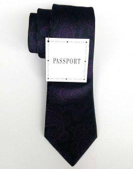 Вратовръзка в черно и лилаво New Style
