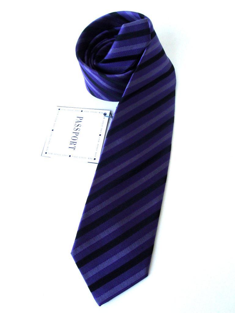 Мъжка вратовръзка в лилаво и черно New Style