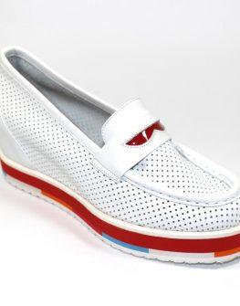 Бели обувки с цветни акценти Sara Pen