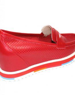 Ефектни обувки в червено Sara Pen