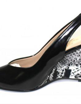 Дамски обувки Sara Pen със змийска платформа