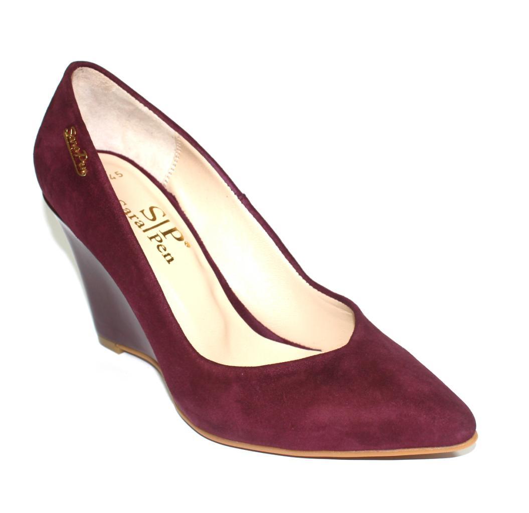 Дамски обувки Sara Pen в бордо