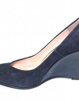 Дамски обувки на платформа Sara Pen в синьо