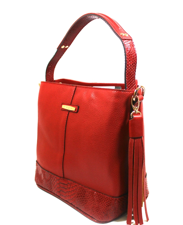 Червена дамска чанта Sara Pen