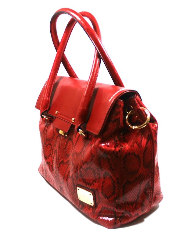 Дамска чанта в червен цвят Sara Pen