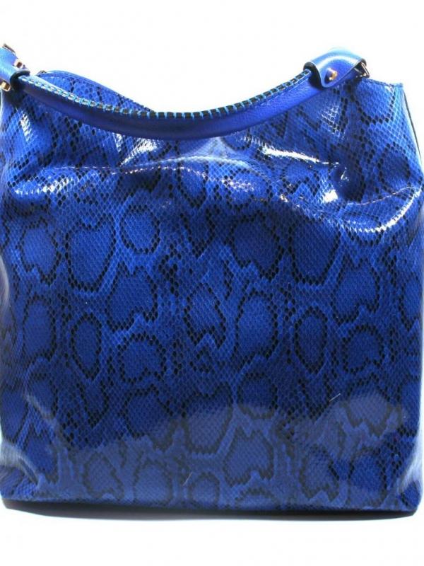 Дамска чанта Sara Pen - синя змия