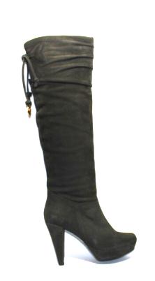 Сиви велурени ботуши Sara Pen