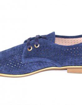 Сини дамски обувки на дупки Sara Pen
