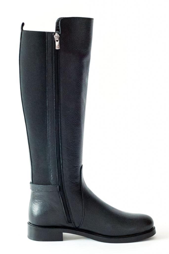 Черни ботуши от естествена кожа - Sara Pen