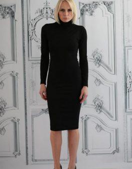 Дизайнерска рокля с поло Aggata