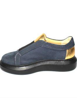 Дамски обувки в синьо и златисто Sara Pen