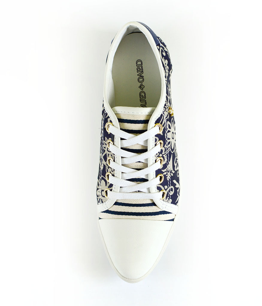 Спортни обувки с цветен десен Cravo & Canela
