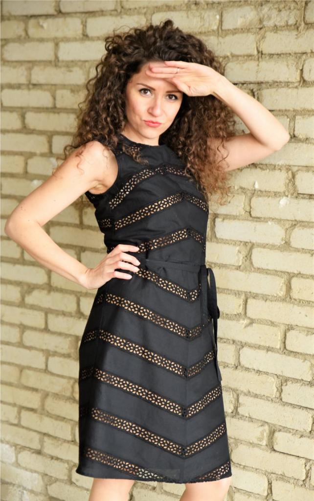 Черна дамска рокля Amploa Atelier