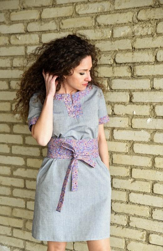 Бутикова рокля в сиво  Amploa Atelier
