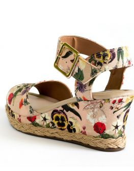 Дамски сандали с цветен десен Cravo & Сanela