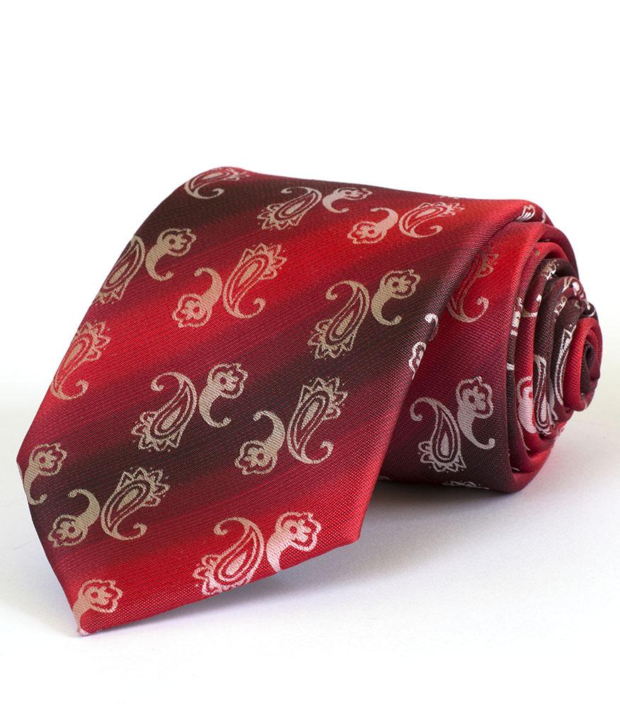 Мъжка вратовръзка в червен цвят New Style
