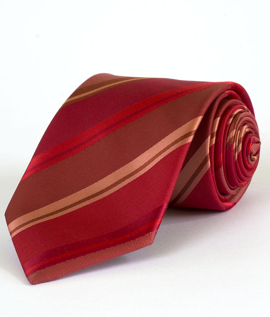 Стилна мъжка вратовръзка в червен цвят New Style