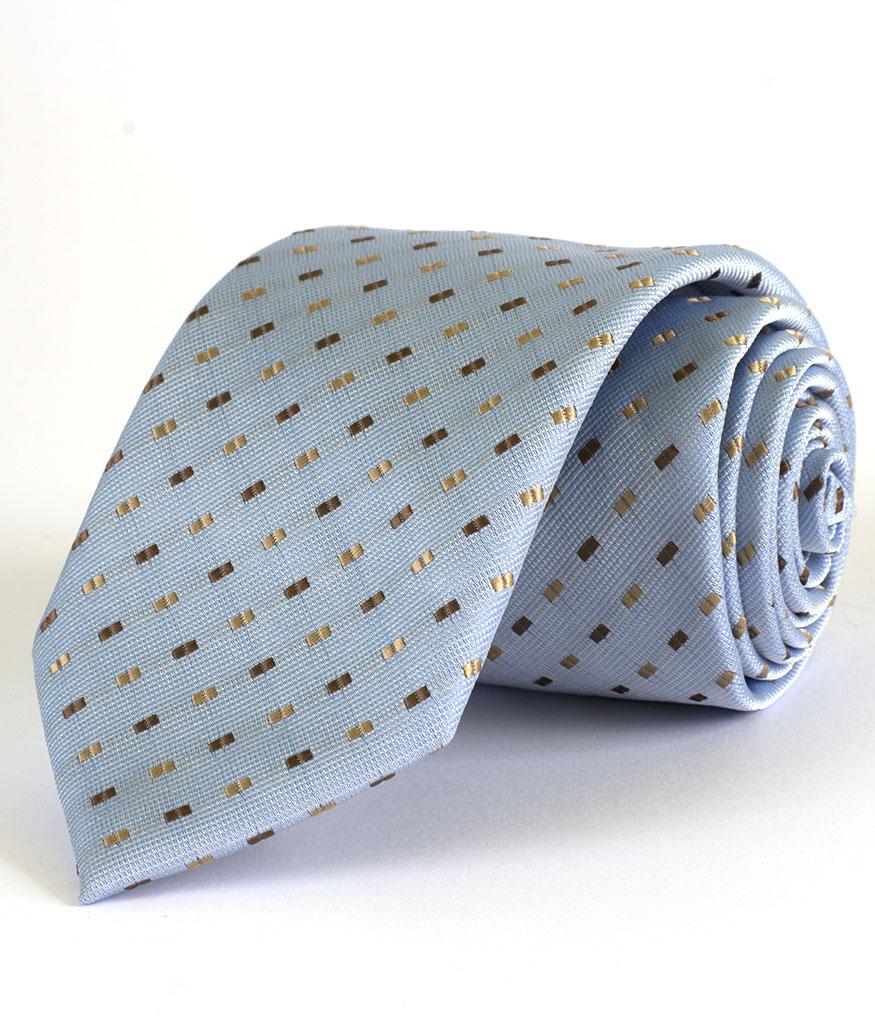 Елегантна мъжка вратовръзка в син цвят New Style