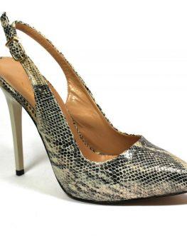 Ефектни дамски обувки със змийски принт Sara Pen