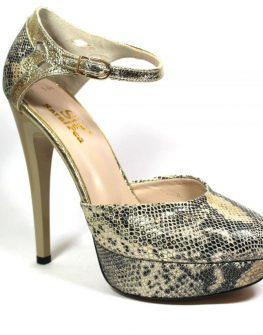 Ефектни дамски обувки Sara Pen със змийски принт
