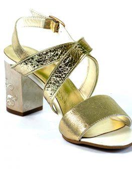 Ефектни златисти сандали  BALIS