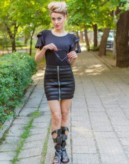 Черна дизайнерска пола La Speciale