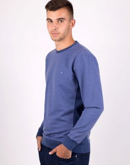 Мъжка блуза в цвят деним