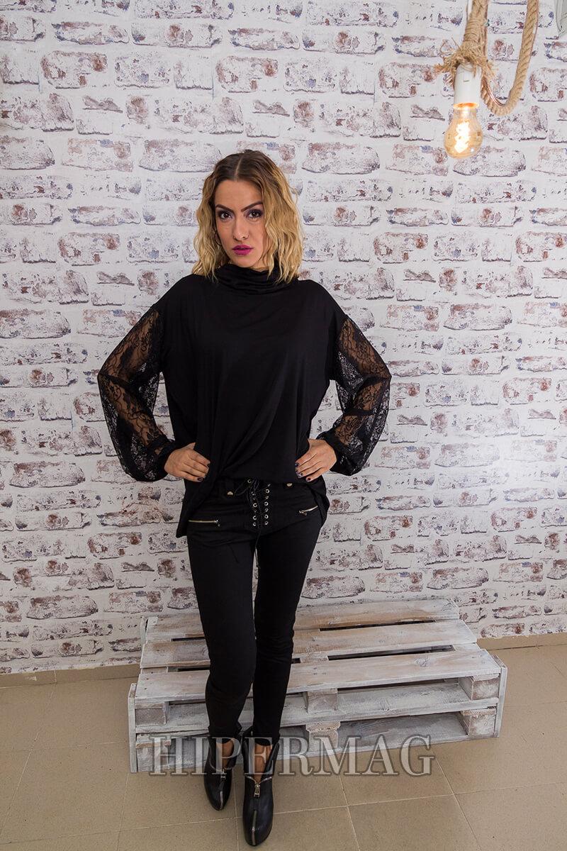 бутикова черна дамска блуза