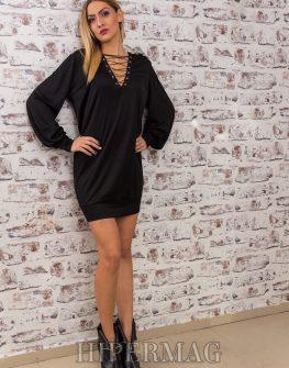 дизайнерска рокля туника с връзки