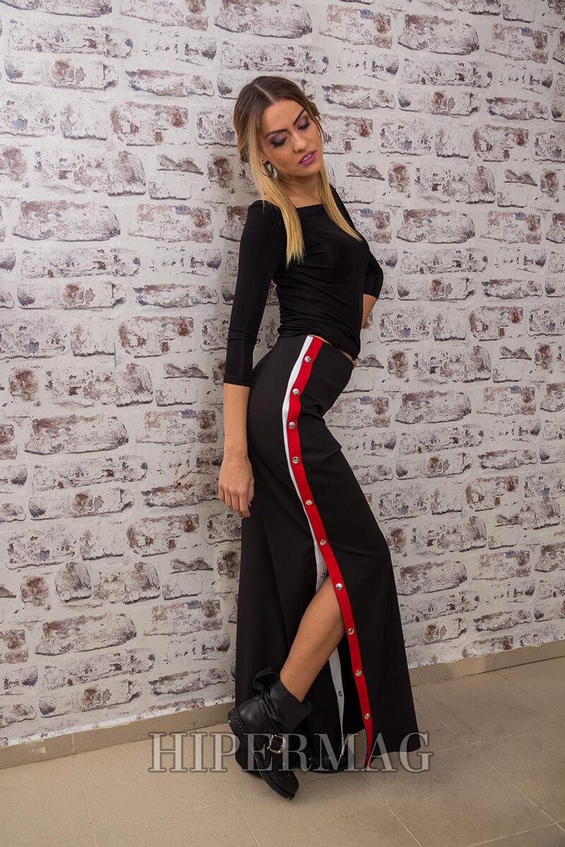 Дамски панталон с червени кантове