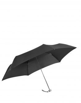 Мини тройно сгъваем черен ръчен чадър Rain Pro