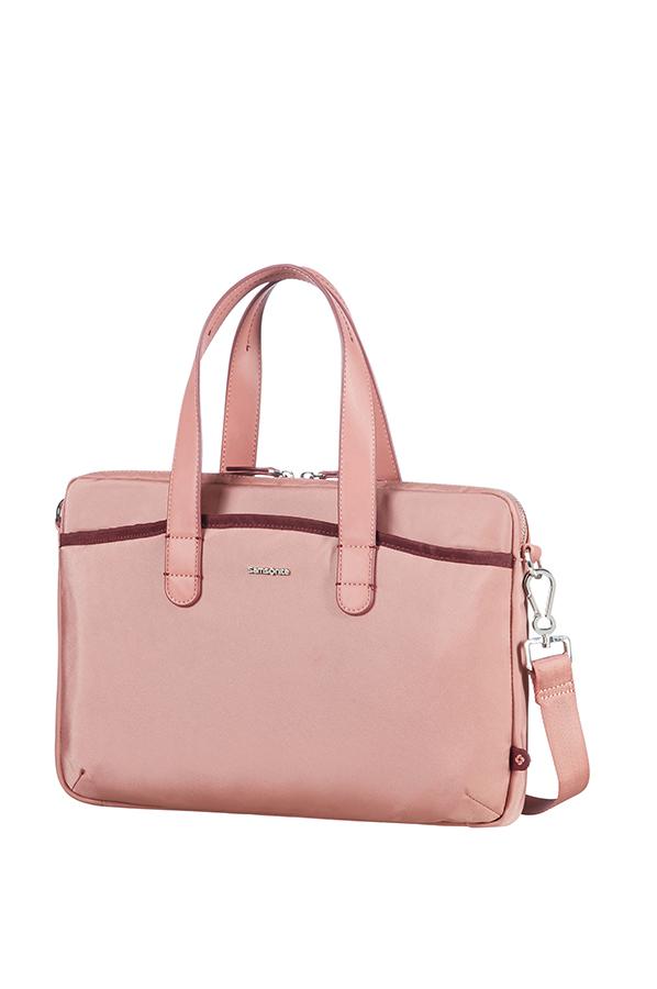 Nefti Дамска бизнес чанта за 33.8cm/13.3″ лаптоп цвят пепел от рози