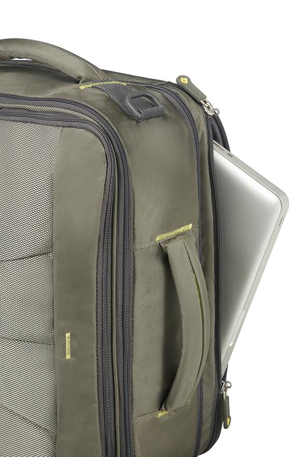 Раница и чанта за рамо 4Mation с разширение зелено/жълто