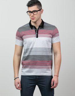 Мъжка блуза с яка и къс ръкав