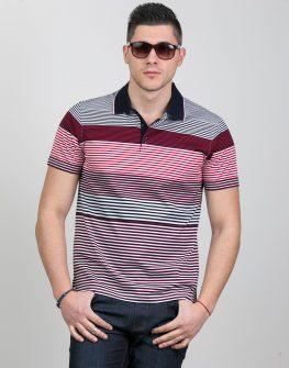 Мъжка блуза с къс ръкав и яка