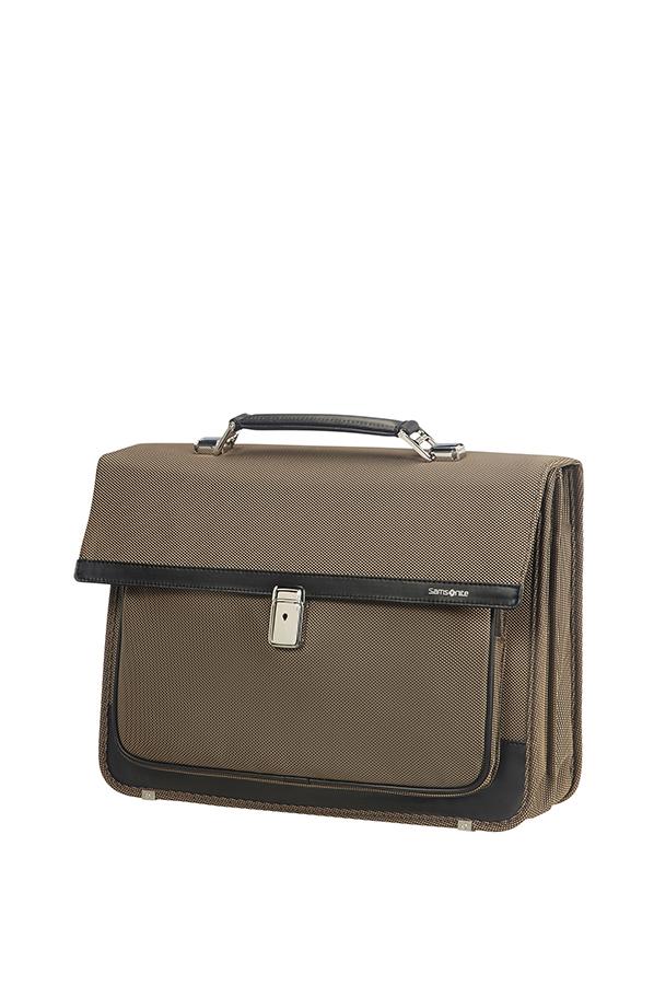 Бизнес чанта с две прегради за 15.6 инча лаптоп Fairbrook бронз/черно
