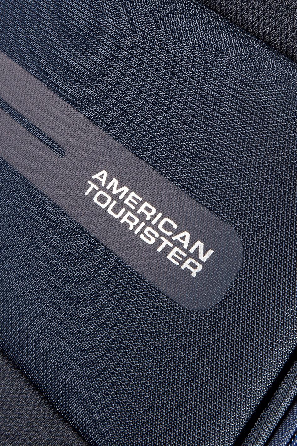 American Tourister тъмно син спинер на 4 колела Summer Voyager 79 см с разширение