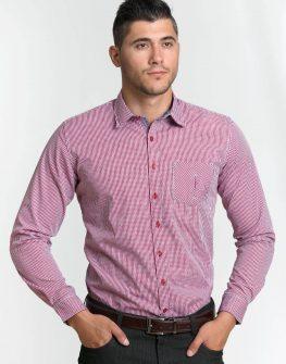 Елегантна риза в дискретно каре