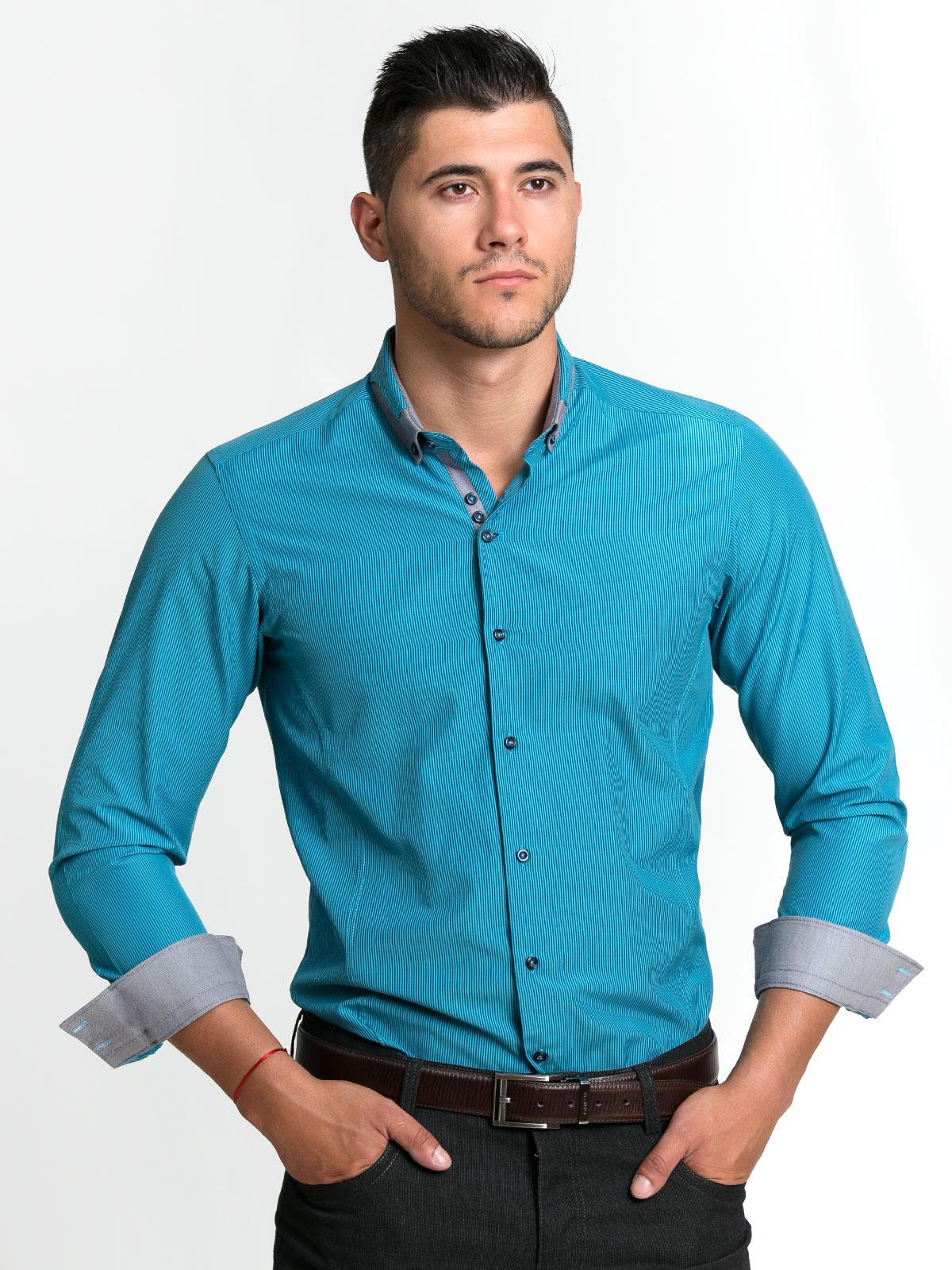 Елегантна мъжка риза с интересна яка