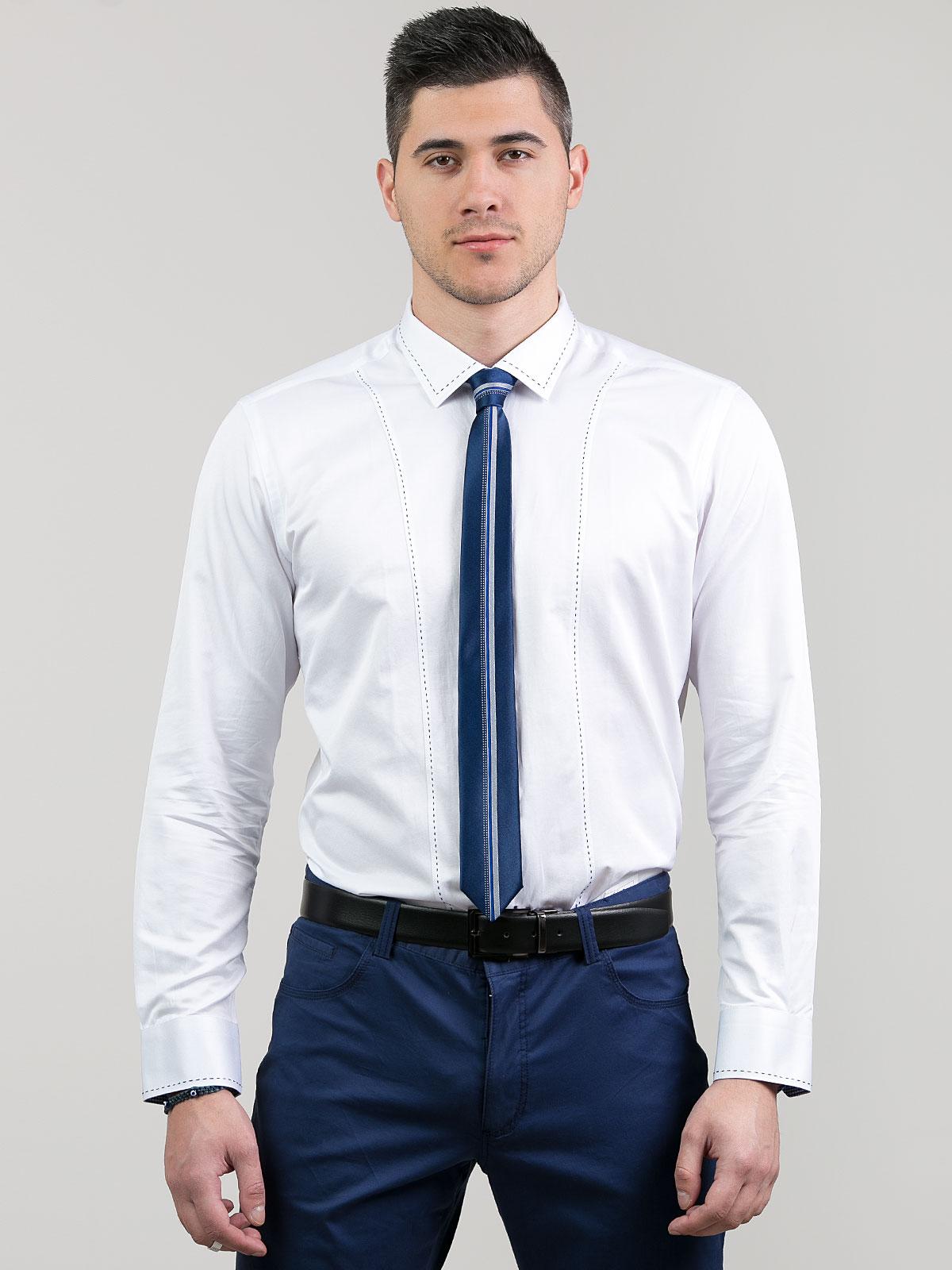 Официална мъжка риза с външни шевове