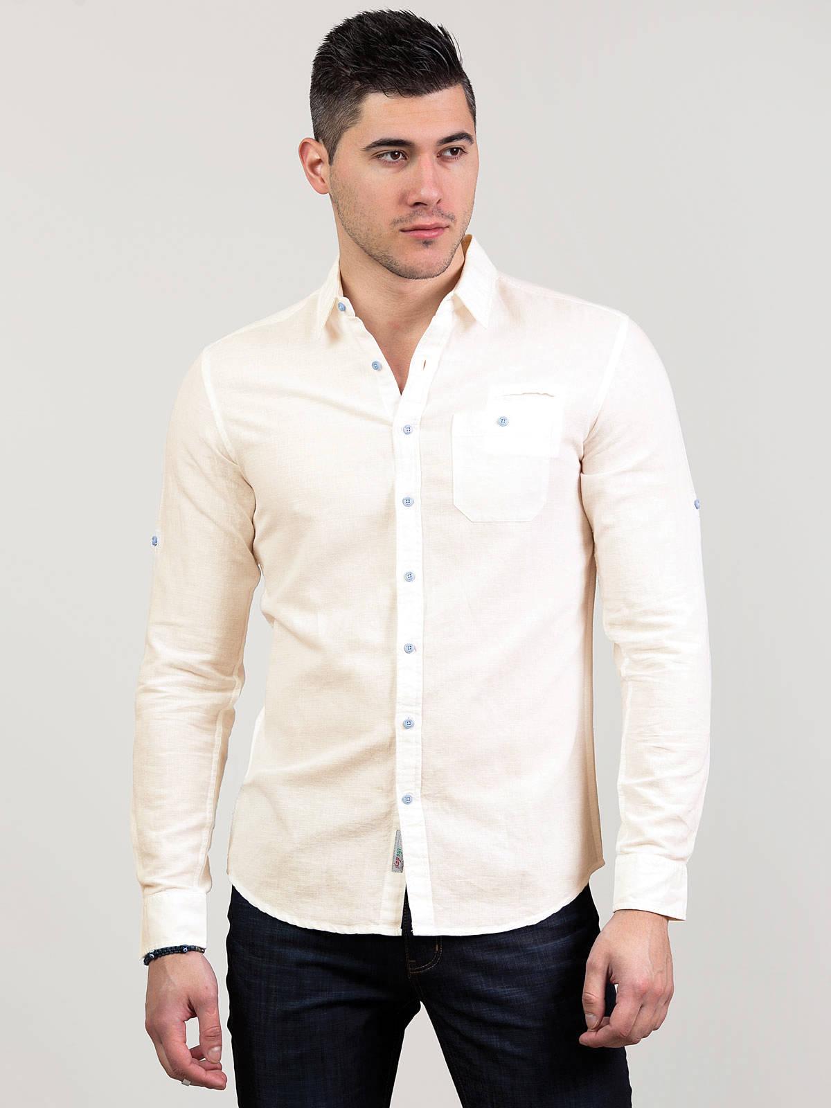 Ленена риза с дълъг ръкав
