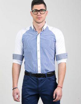 Елегантна мъжка риза в светло синьо