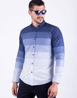 Риза синя