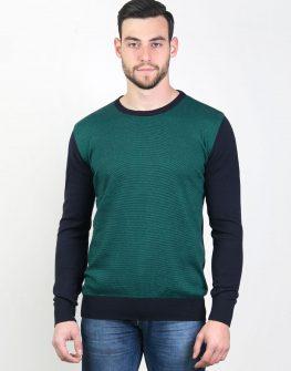 Мъжки пуловер в зелен цвят