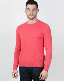 Пуловер STYLER в цвят корал