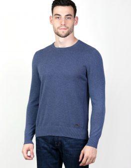 Пуловер в цвят деним