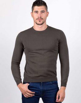 Пуловер STYLER в цвят каки